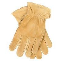 Wholesale Full cowhide leather driving gloves with extend cuff for winter , metal constructing from china suppliers