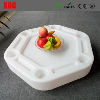Wholesale 2018 new arrival hollow structure white color swimming pool floating beverage table from china suppliers