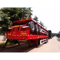 Quality 2 Axle Heavy Duty Truck Flatbed Transport Container Semi Trailer for sale