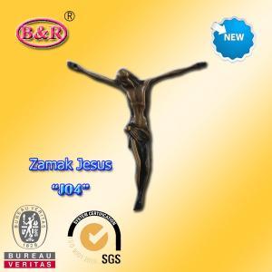 "Wholesale Zamak Jesus size 10.2*11.2cm zinc alloy cross part for crucifix , No "" J04 "" from china suppliers"