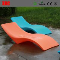 Wholesale Hard Plastic Beach Single Lounge Poolside Sun Chaise Lounge from china suppliers