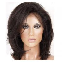 Wholesale Fashion Blonde Wigs Human Hair , OEM / ODM Short Front Lace Wigs With Thick Bottom from china suppliers