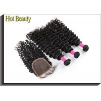 Wholesale Brazilian Deep Curly Hair Remy Hair Extensions Natural Black  1 Piece /Lot Can Buy 3/4 Bundles from china suppliers