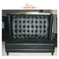 Wholesale Contemporary Black Leather Restaurant Booth Furniture , Wooden Restaurant Booths from china suppliers