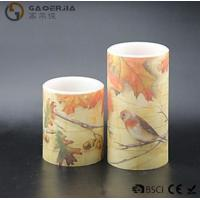 Wholesale Eco Friendly Birds Paradise Water Sticker Flameless Led Candles With Flat Edge from china suppliers