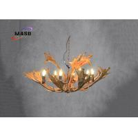 Wholesale MASO Flat Antler Chandelier Vintage Style 980*580size Resin Hanging Adjustable Chain Eight Light Source MS-P4006 from china suppliers