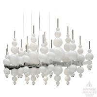 Wholesale High End Hotel Lobby Big Decorative Hanging Chandelier Lighting White and Black from china suppliers