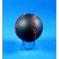 Wholesale Novelty Red Line + Black Real Leather Front Racing Gear Knob Ball Shape from china suppliers