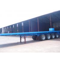 Wholesale Container Loading 4 Axle Semi Trailer , 50 Tons 60 Ton 45 Ft / 40 Foot Flatbed Trailer from china suppliers