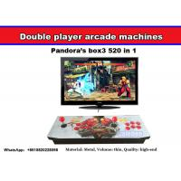 Wholesale Pandora's Box 4 arcade fighting game machine with multi game board 645 in 1,Very popular arcade double joystick console from china suppliers