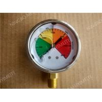 "Wholesale 2.5"" Liquid Filled Manometer Pressure Gauge with 304 SS Case and Brass Connection from china suppliers"