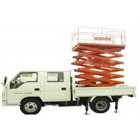 Wholesale 300kg Load capacity Truck Mounted Scissor Lift with 1500x750mm Platform size from china suppliers