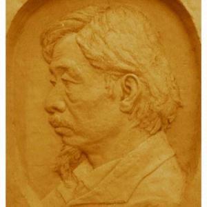 Plaster carving, head portrait carvings