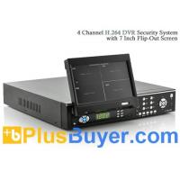 Wholesale 4 Channel DVR Security System (7 Inch FlipOut Screen, H.264, Remote) from china suppliers
