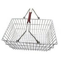 Wholesale Low Carbon Steel Hand - Held Metal Shopping Baskets With Handles 20 Liter from china suppliers