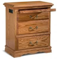 Quality Original Solid Wood Smart Nightstand , Unusual Bedside Tables for sale
