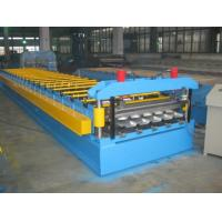 Wholesale 0.4-0.8mm Thickness Color Aluminum Trapezoidal Corrugated Sheet Roll Forming Machine IBR Type from china suppliers