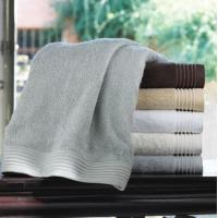 Wholesale Embroidered Cotton Bamboo Towels , Oversized Bath Towels With Pigment Printed from china suppliers