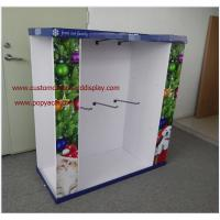 Wholesale Christmas Gifts customizable Cardboard Pallet Display with metal hooks from china suppliers