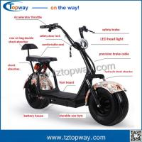 Wholesale 18x9.5 inch fat tyre with Brushless dc motor 1000w electric citycoco scooter from china suppliers