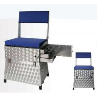 Wholesale Aluminum Fishing Seat Boxes with Back Rest and 3 Side Alum. Drawers STBX012 from china suppliers