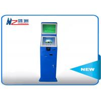 Wholesale Indoor / Outdoor Coin Counting Kiosk Billing And Paymen All In One Computer , Blue from china suppliers