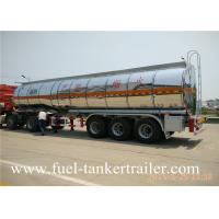 Wholesale Tri - axle stainless steel fuel tanker trailer for corrosive material transportation from china suppliers