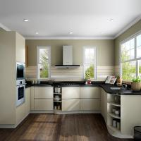 Wholesale High Gloss Laminate Solid Wood Kitchen Cabinets , Open Shelf Kitchen Island Cabinets from china suppliers
