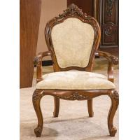 Wholesale Antique Wooden Luxury Hotel Furniture Upholstery Fabric High Oval Back Arm Chairs from china suppliers