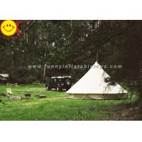 Wholesale EN1790 100% Cotton Canvas Luxury Bell Tent 5m Zipperd Door For Camping from china suppliers