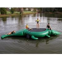 Wholesale Commercial Water Games Inflatable Crocodile Water Trampoline With 0.9mm Pvc Tarpaulin from china suppliers