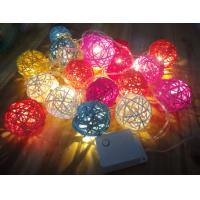 Quality Colorful Rattan Ball LED Decorative String for sale