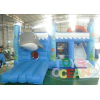 Wholesale Commercial Cute Dolphin Inflatable Bounce Combo House Blue Color With Slide from china suppliers