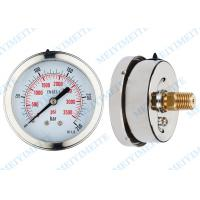 Wholesale Movement Liquid pressure gauge 63mm back with bayonet bezek and brass internals from china suppliers