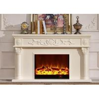 Wholesale White Antique Classical Imitation Marble Hotel / Home Electric Fireplace from china suppliers