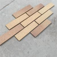 Quality Exterior Wall Decoration Clay Split Face Brick HM36413-7 With Rough Face for sale