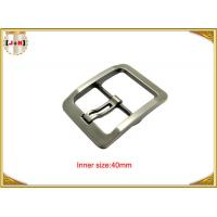 Wholesale Silver Plated Zinc Alloy Pin Metal Belt Buckle For Men / coat Belt Buckle Replacement from china suppliers