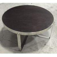Wholesale solid wood top stainless steel metal coffee table/side table/side table for hotel furniture TA-0078 from china suppliers