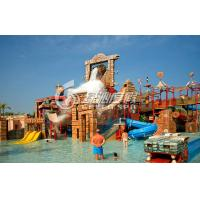 Wholesale Commercial Huge Fiberglass Slide Water Park with Water Castle , Maya Style from china suppliers
