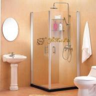 Quality Square Double Door Outside Swing Shower Enclosure for sale