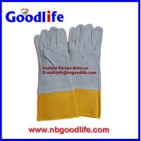 "Wholesale 14"" 16"" leather welding gloves,cow split leather welding work from china suppliers"
