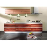 Wholesale Flat Panel Door Laminate Kitchen Cabinets For Home / Hotel / Villa Project from china suppliers