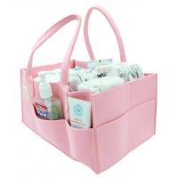 Wholesale 2017 China factory wholesale multi pocket nursery portable organizer Storage basket bag felt baby diaper caddy from china suppliers