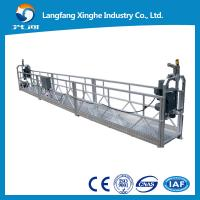 Wholesale 630kg hot galvanized suspended platform / cradle / suspended scaffolding gondola with 415v hoist from china suppliers
