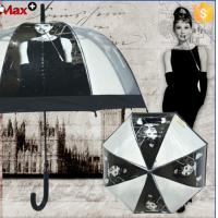 Wholesale : Personalized Hepburn Monroe POE clear dome umbrella transparent from china suppliers