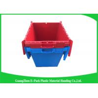 Wholesale Solid Moving Plastic Attached Lid Containers , 50kgs Security Plastic Bins With Lids from china suppliers