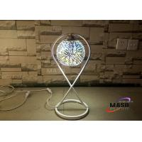 Wholesale Maso 3D Fantastic Effect Glass Chrome Cover Metal Material Lamp Body E27 Screw Lamp Base Table Lamp For Bedroom Study from china suppliers