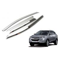 Wholesale Chrome Sun Visors Vent Shade for IX35 2009 2010 2011 2012 2013 Hyundai New Tucson Rain Window Guards from china suppliers