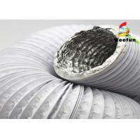 Wholesale Aluminum Laminated PVC Ventilation Ducting Compressible Expandable White from china suppliers