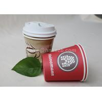 Wholesale Single Wall Disposable Paper Coffee Cups With Plastic Lids Customized Logo Printed from china suppliers